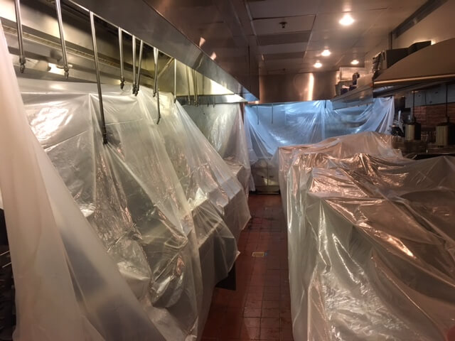 Exhaust hood cleaning